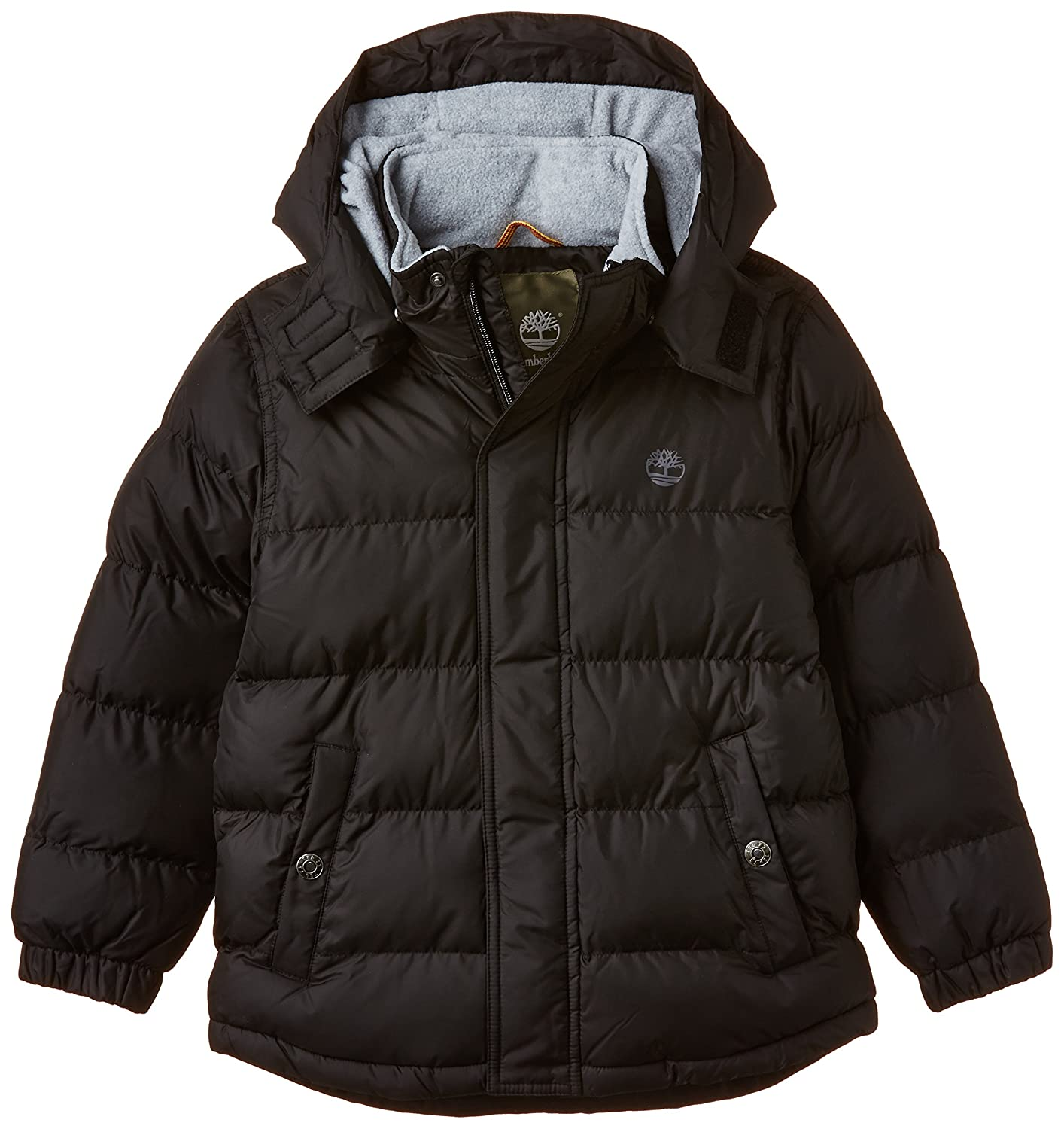 2a8f50a43 Timberland Boy's T26394 Puffer and Bag Track Jacket, Black, 8 Years ...