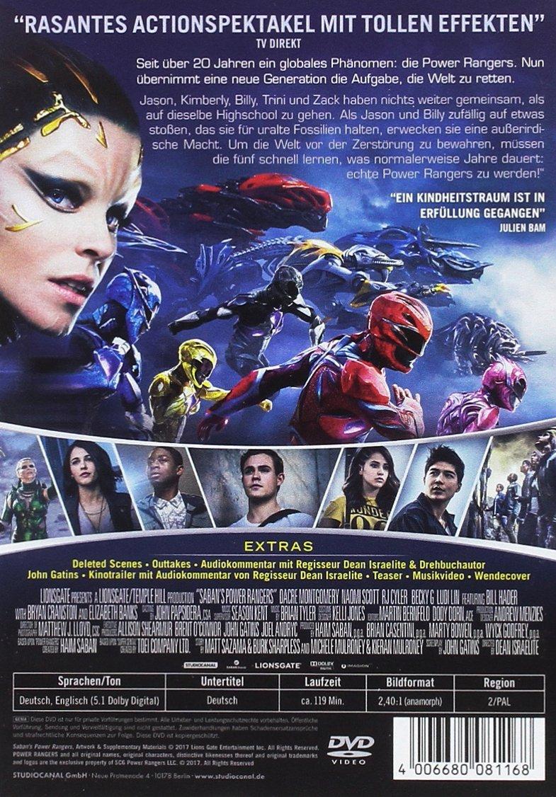 Power Rangers [DVD]: Amazon.es: Dacre Montgomery, RJ Cyler ...