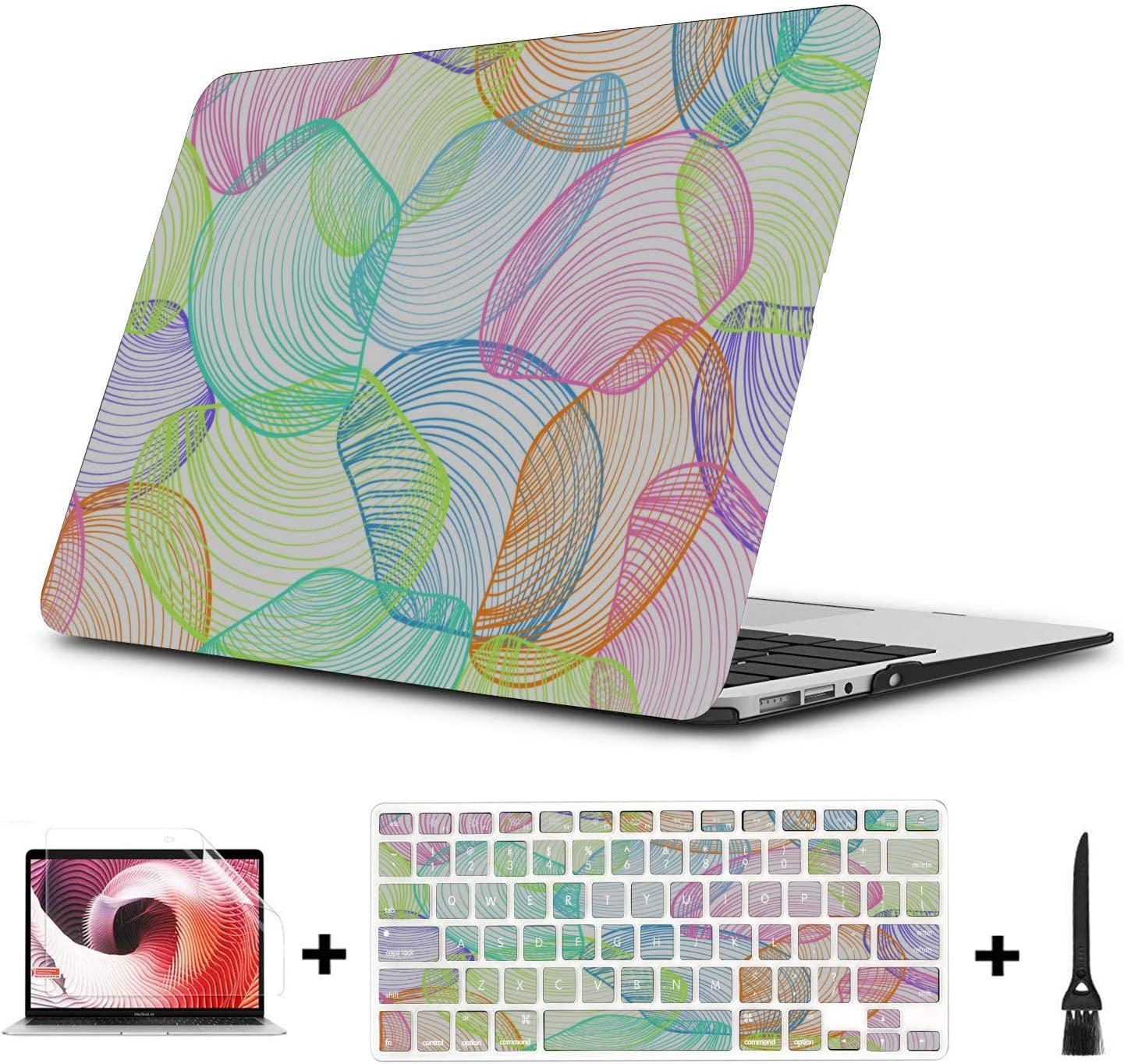 Macbookpro Case Summer Seaside Seashells Starfish Plastic Hard Shell Compatible Mac Air 11 Pro 13 15 MacBook Pro A1989 Case Protection for MacBook 2016-2019 Version
