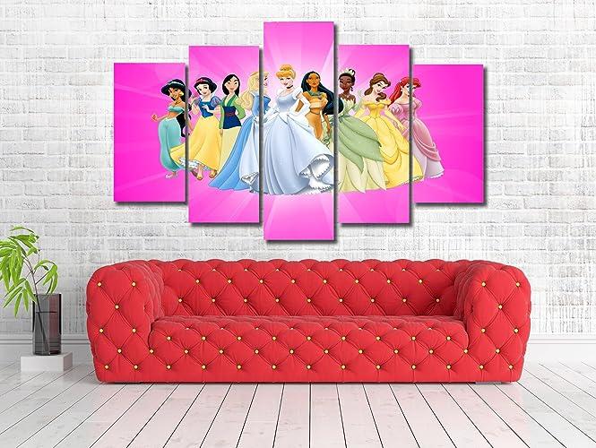 Amazon.com: Disney Princess Kids Character Art Framed Canvas Print ...
