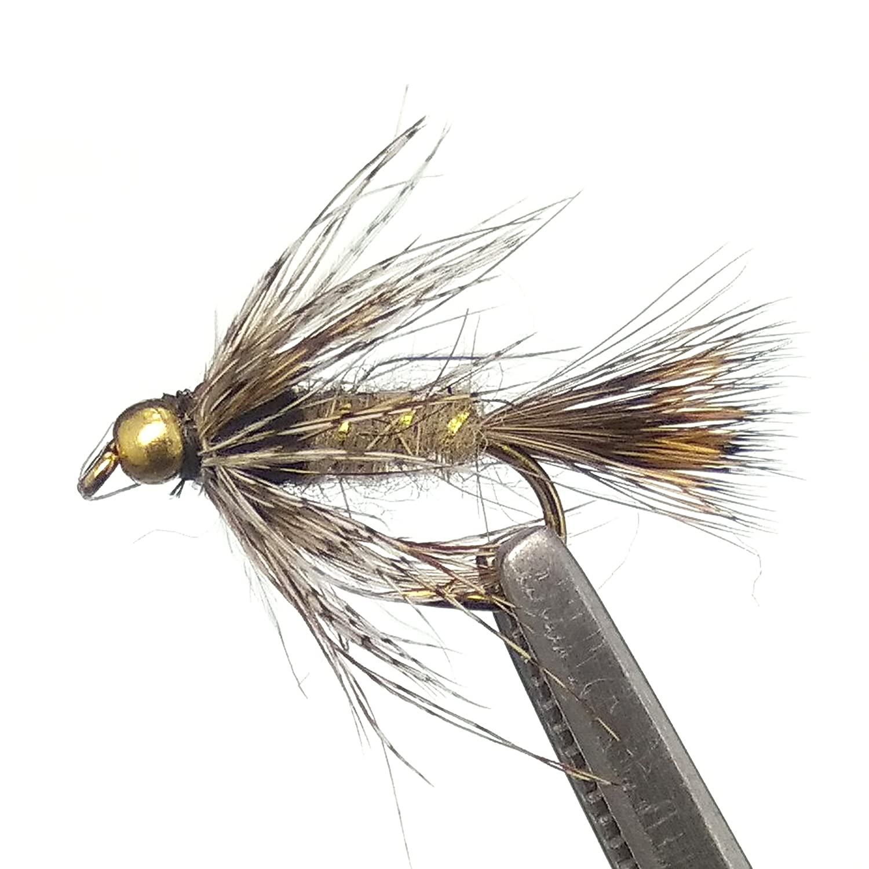 16, Midge trout Flies 14 Brown Midge 12 Dry Fishing Flies Mixed Sizes 12