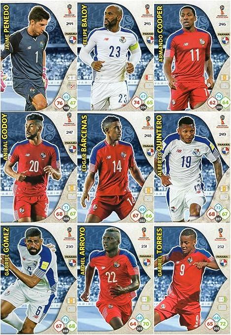 Adrenalyn XL FIFA World Cup 2018 Completo 9 Tarjeta Panamá Equipo Set: Amazon.es: Deportes y aire libre