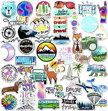 GTOTd Daisy Flower Vinyl Bumper Stickers 20 pcs Cute VSCO Stickers for Laptop Water Bottle Bike Car Motorcycle Bumper Luggage Skateboard Graffiti