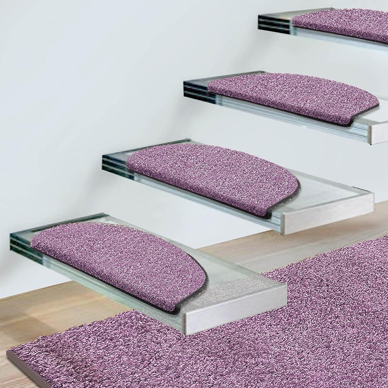 Stufenmatten Uni Lila   Qualitätsprodukt aus Deutschland Deutschland Deutschland   Gut Siegel   Kombinierbar mit Läufer   65x23,5 cm   halbrund   15er Set 19fa7e