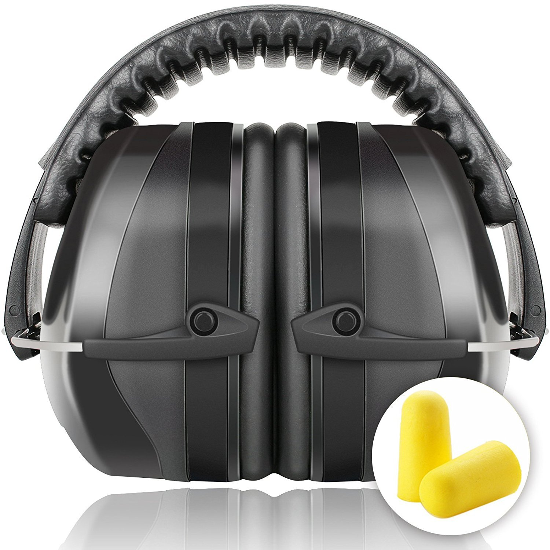 Fnova Protectores auditivos 34dB má s altas Muffs NRR, Oí do defensiva Banda de protecció n /Disparos Hearing Protector orejeras adapta a adultos a los niñ os (Azul)