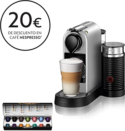 Krups Nespresso CitiZ&Milk XN761B - Cafetera Monodosis Cápsulas ...