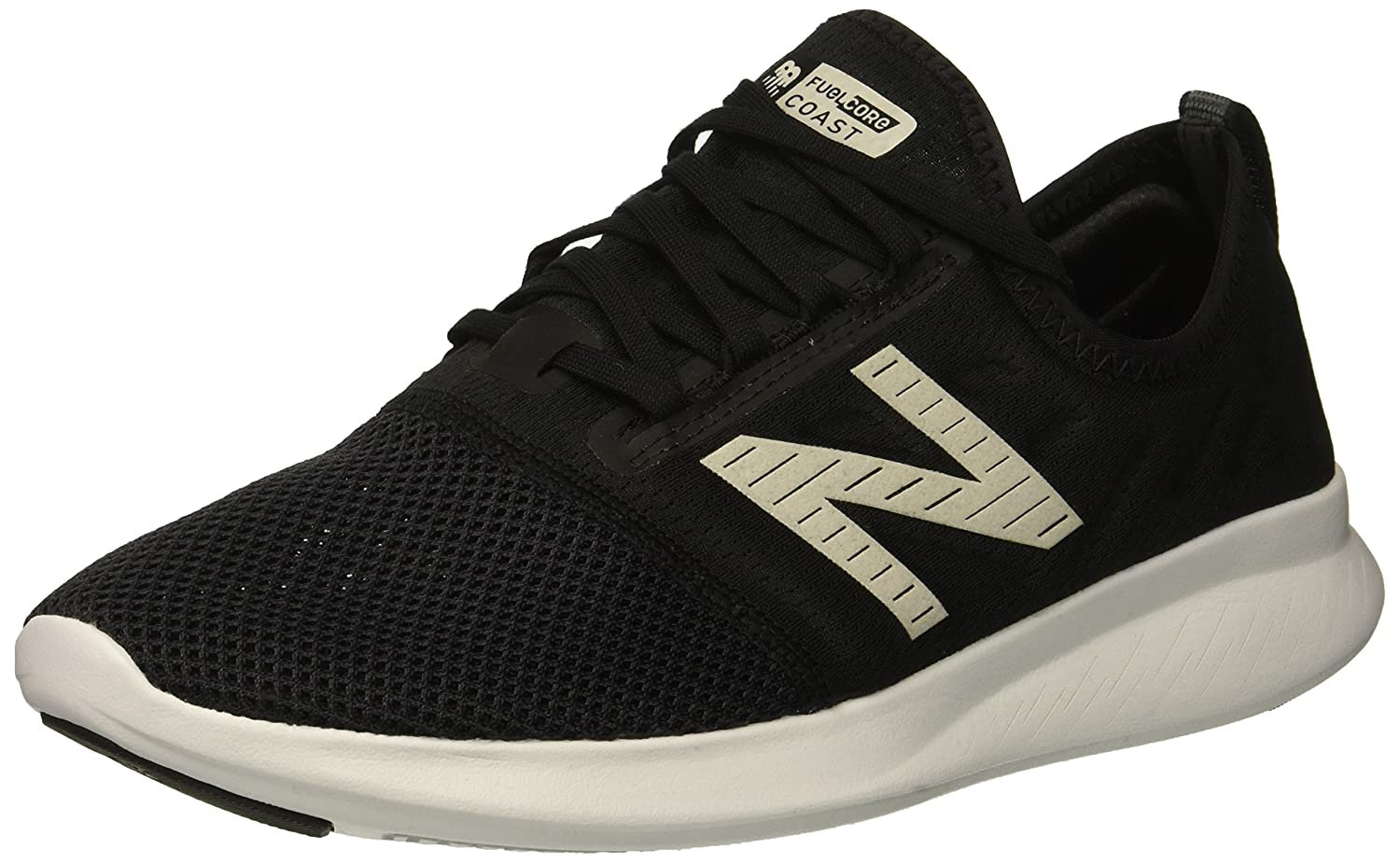 New Balance Women's Coast V4 FuelCore Running Shoe B075R3RB1V 8.5 B(M) US|Black/White