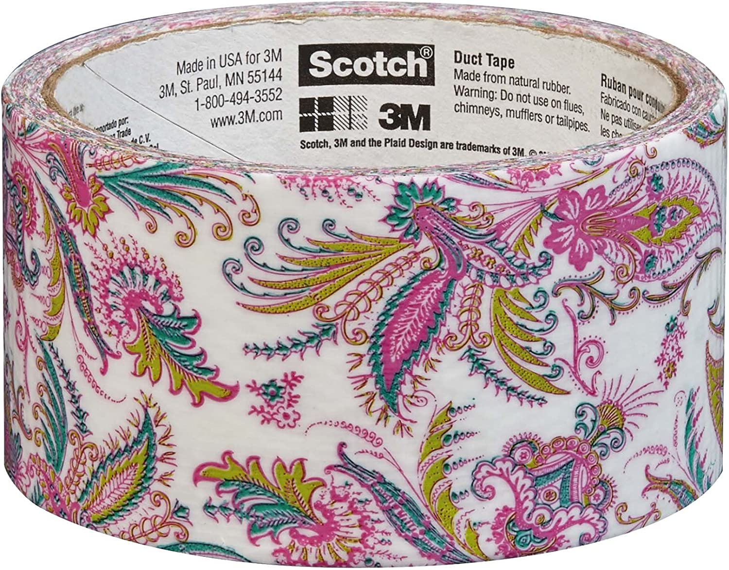 4 Rolls Multi-Color Paisley Duck Brand Duct Tape Lot 1.88in x 10YD FAST SHIPPING