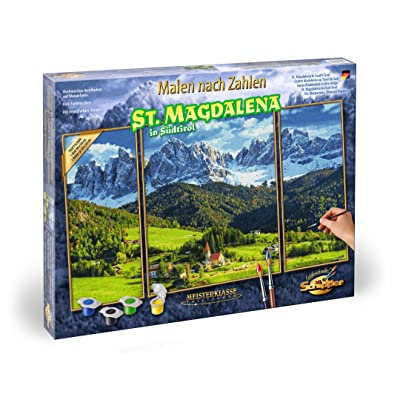 Schipper 609260760 Painting by Number -Panoramic Alpine St.Magdalena: Toys & Games
