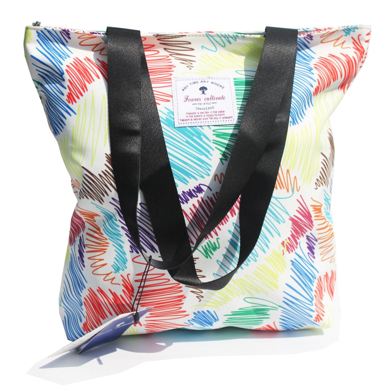 Original Floral Tote Bag Shoulder Bag for Gym Hiking Picnic Travel Beach