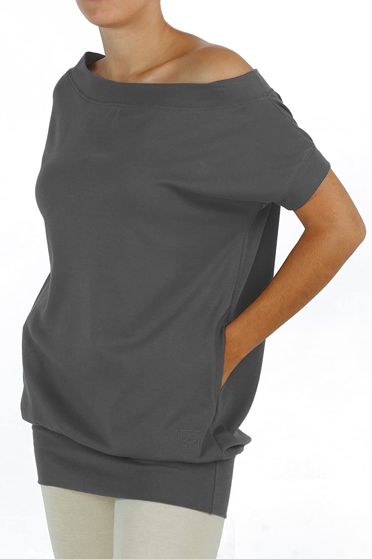 Mujer Manga Algodón Delicado Suave Corta Y e B Camiseta Maxi Pima SYFtXxqHw
