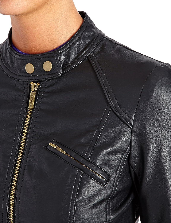 Veste cuir noir morgan