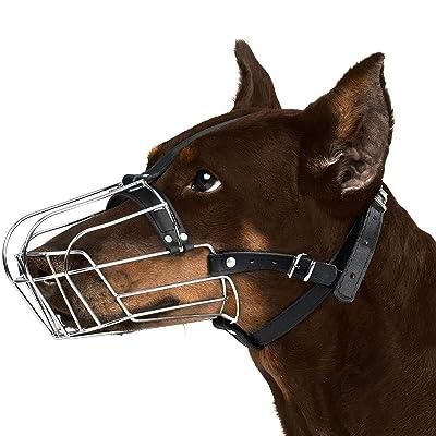 BronzeDog Wire Basket Dog Muzzle Doberman