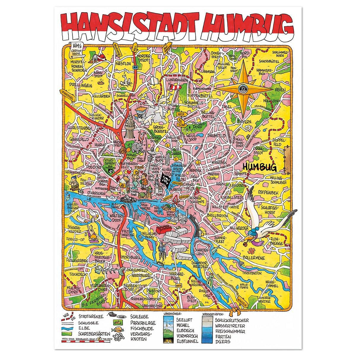 Ampel 24 Action Und Satire Landkarte Hamburg By Kim Schmidt
