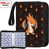 POKONBOY Baseball Card Sleeves Compatible with Pokemon Trading Cards, Carrying Case Fit for Pokemon Binder Card Holder Set, Holds Up to 648 Cards