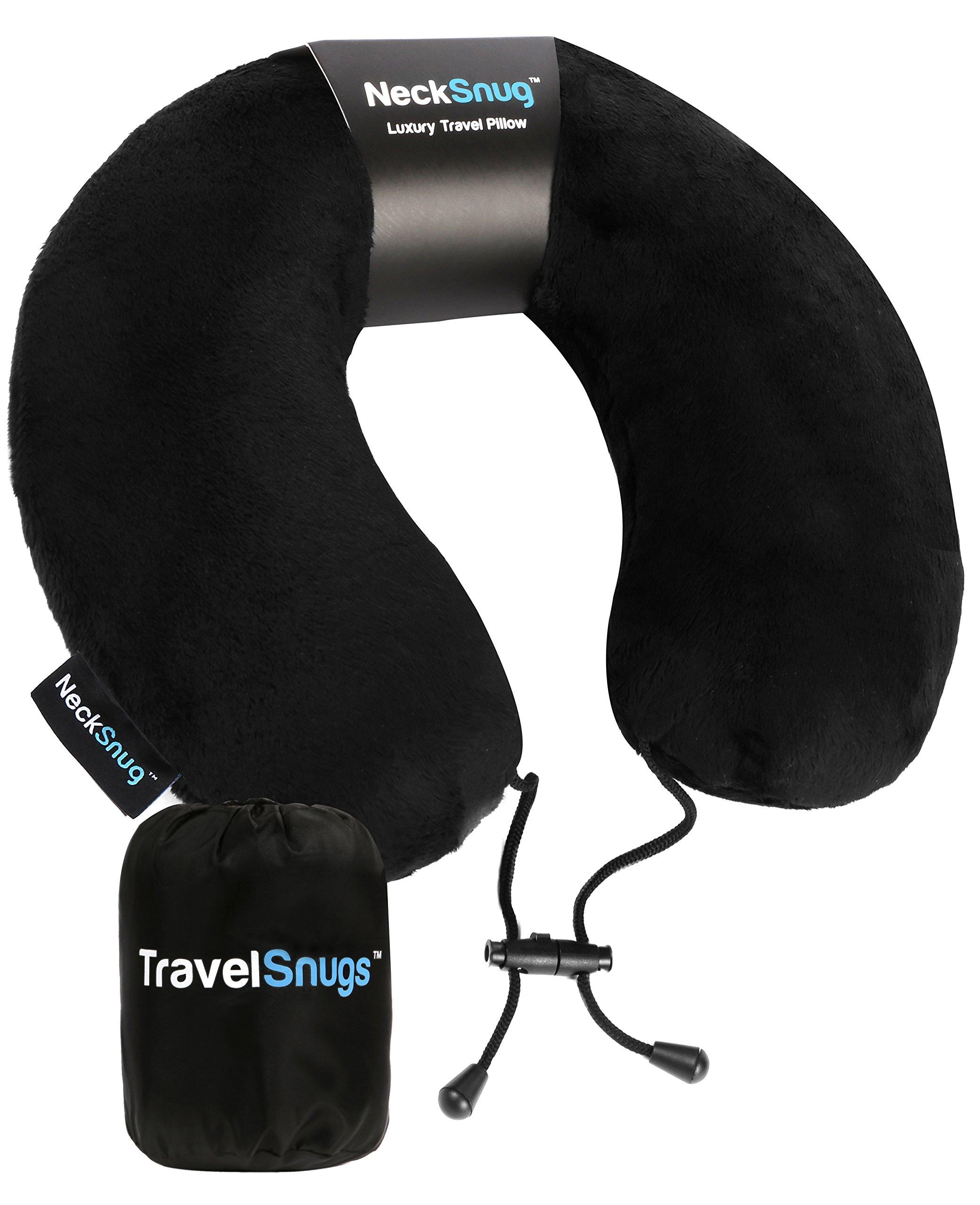 TravelSnugs NeckSnug - Luxury Travel Pillow - Memory Foam Neck Pillow for Travel
