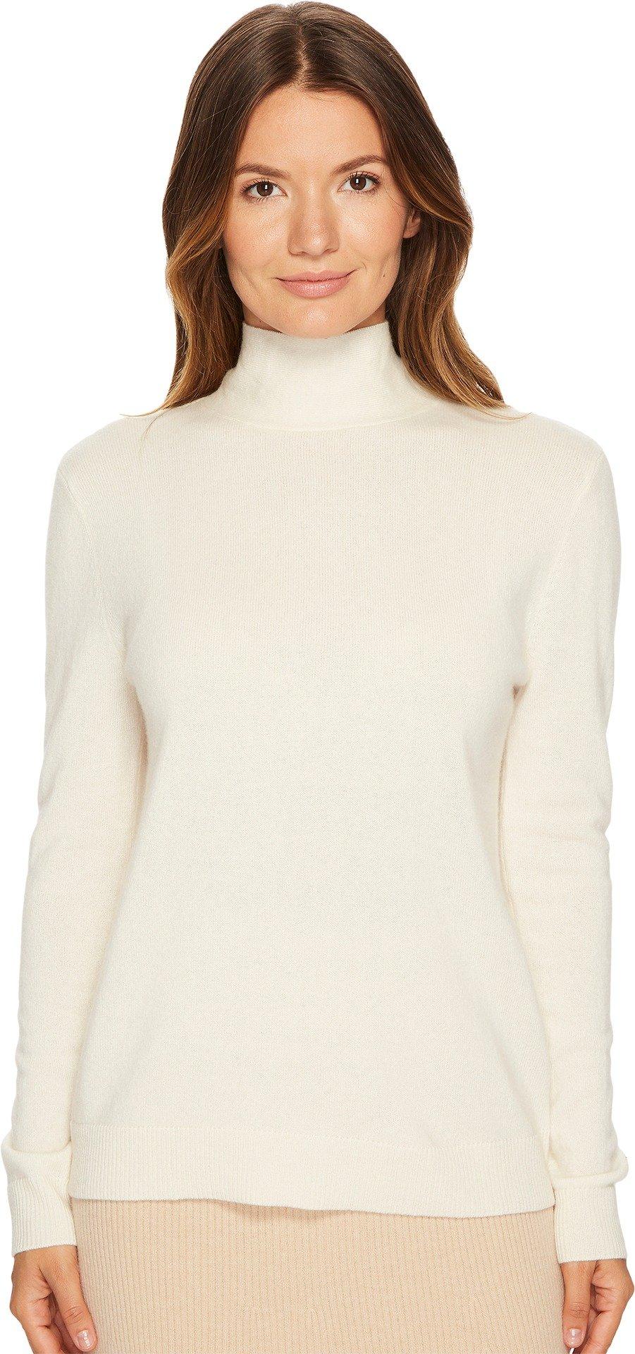 Cashmere In Love Women's Vera Pullover With Bowtie Vanilla Large