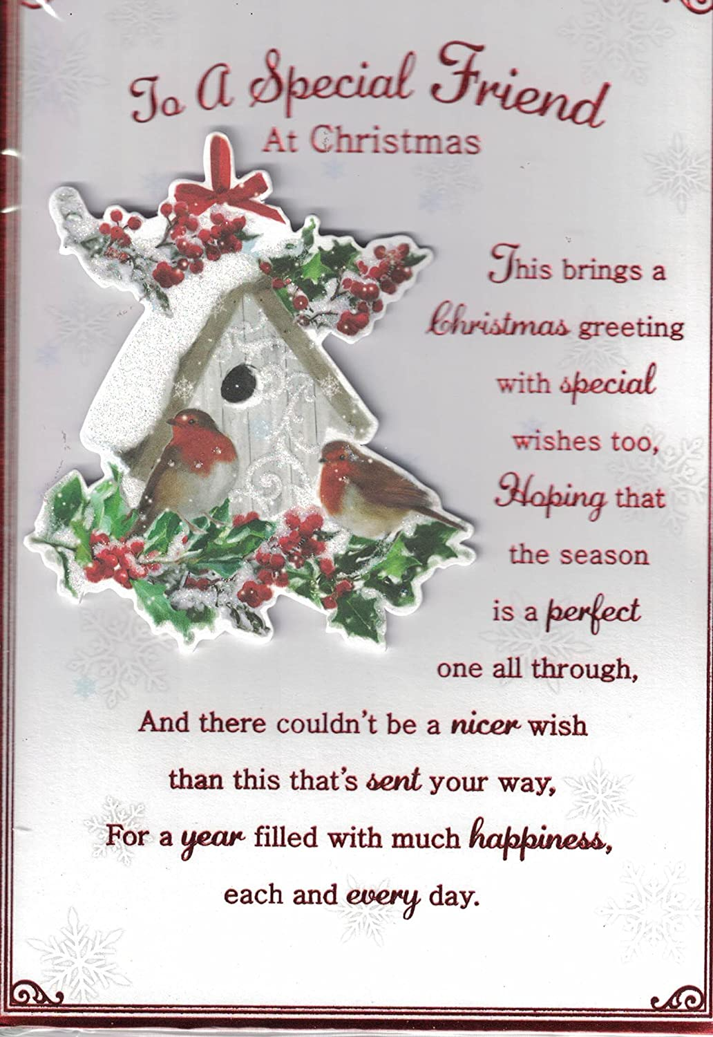 Friends christmas card to very special friends traditional friends christmas card to very special friends traditional robins holly amazon toys games kristyandbryce Gallery
