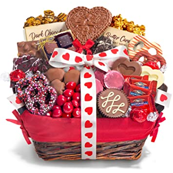 Amazon Com Valentines Day Chocolate Bliss Assortment Gift Basket