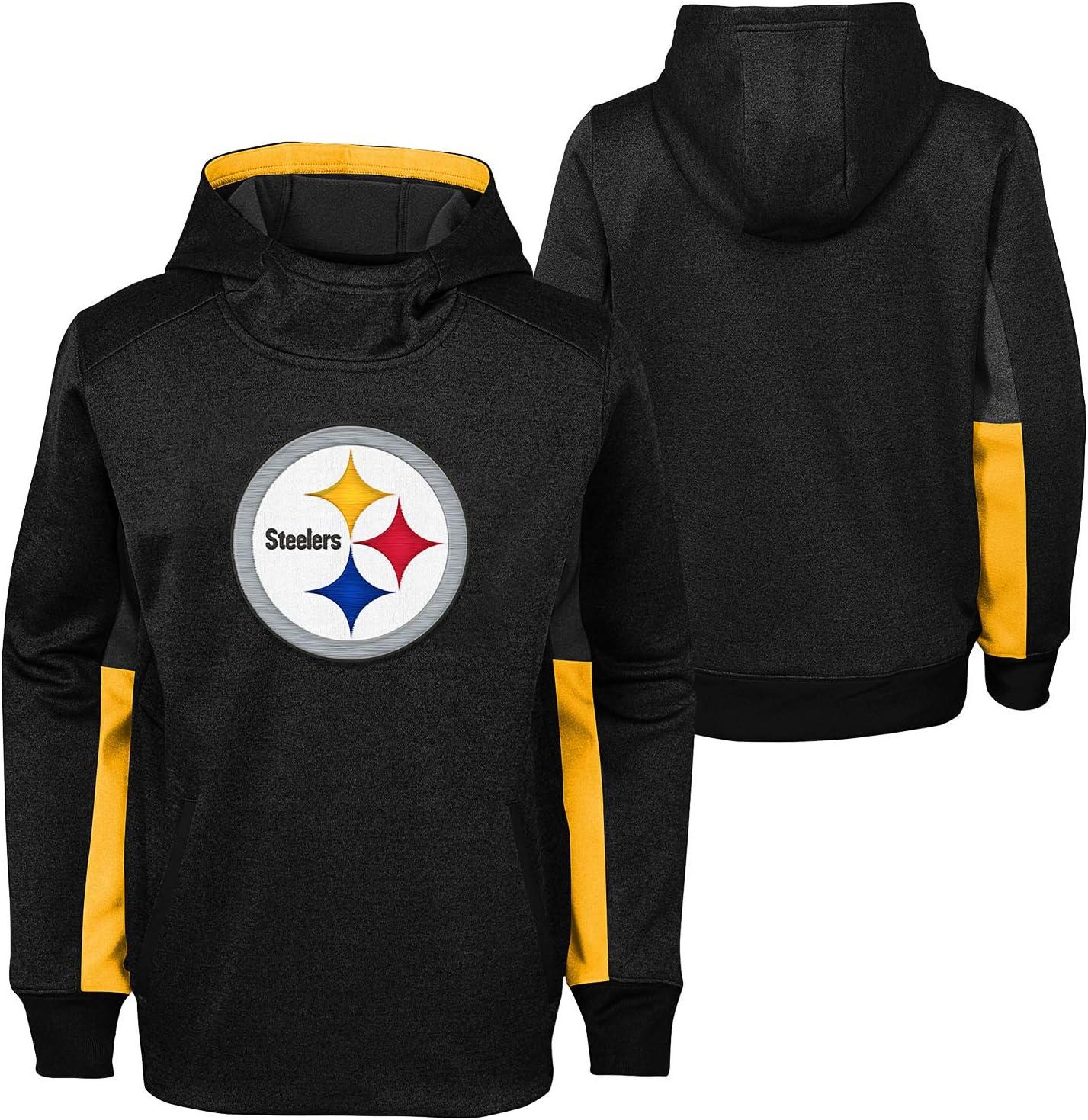 14-16 OuterStuff Youth NFL Status PO Sweatshirt Hoodie , Pittsburgh Steelers Large
