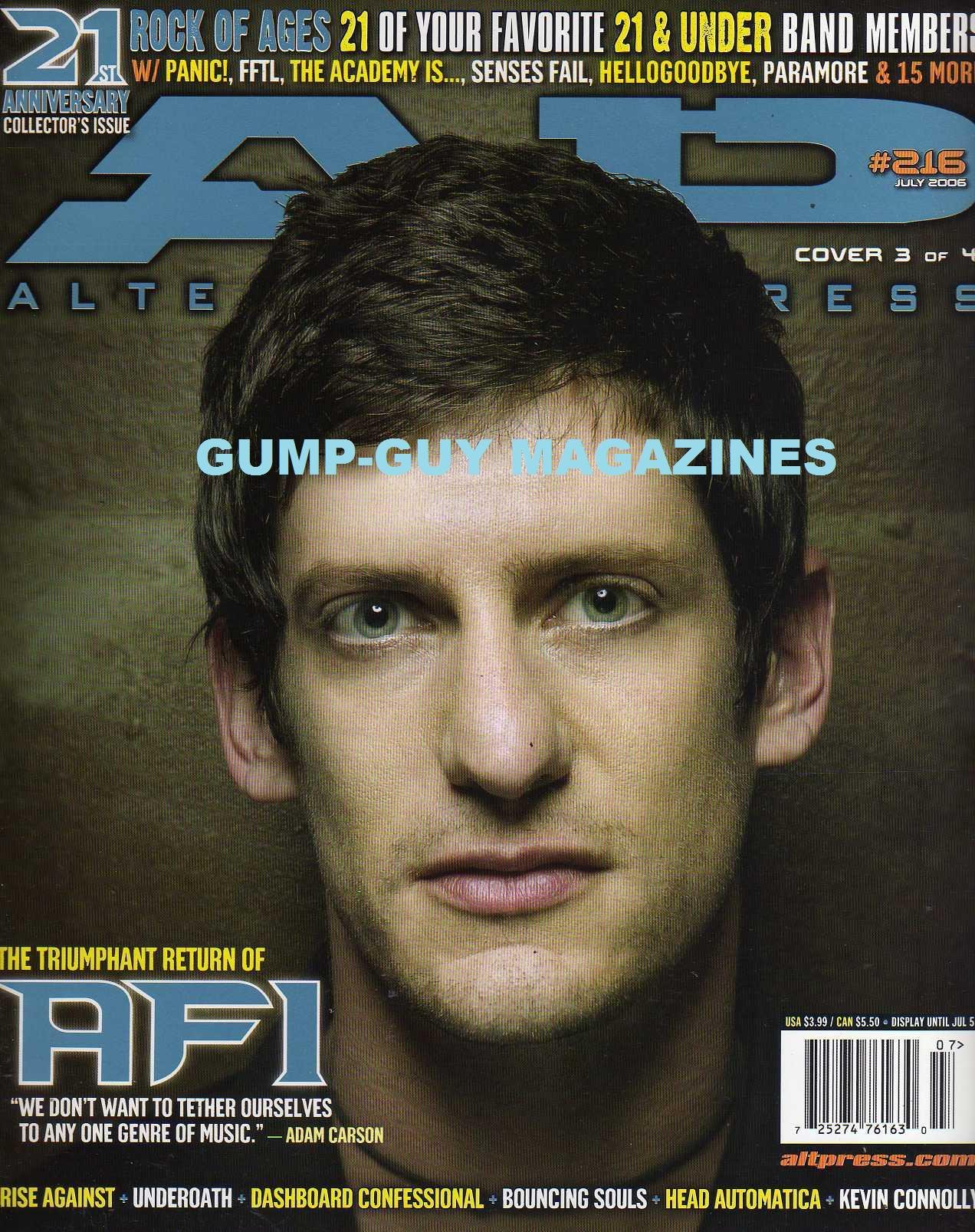 AP ALTERNATIVE PRESS Magazine July 2006 No  216 (21st Anniversary