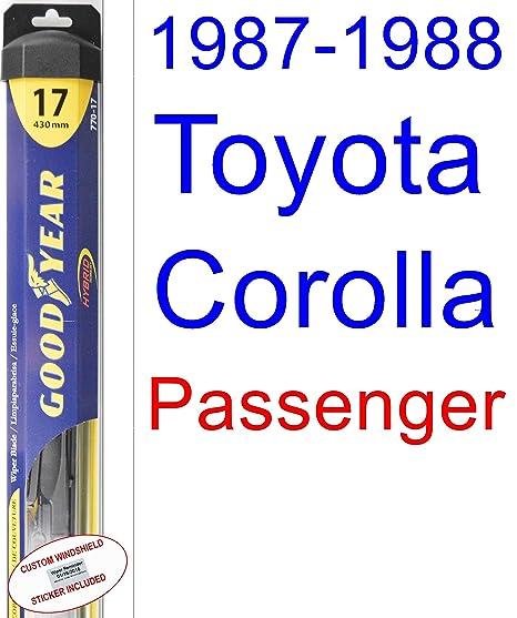 1987 – 1988 Toyota Corolla FX16 GTS hoja de limpiaparabrisas de repuesto Set/Kit (