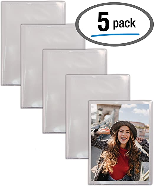 12 Pack Clear View Cover with Removable Decorative Inserts Holds 48 Photos Better Office Products 48 Photo Mini Photo Album 4 x 6 Inch Pack of 12