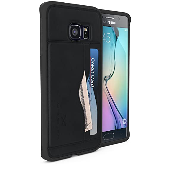 best authentic 10107 c782b Galaxy S6 Edge Wallet Case, Ghostek Stash Series for Samsung Galaxy S6 Edge  Slim Hybrid Impact Card Wallet Hard Carrying Case Cover With Screen ...