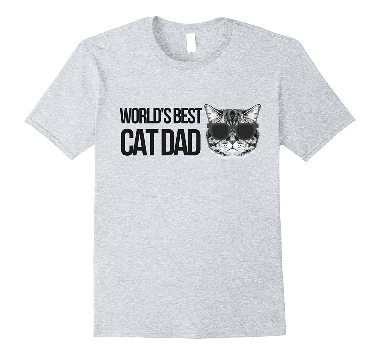9be76b2d Cat Dad Tee - World's Best Cat Dad Graphic Tshirt-ANZ ⋆ Anztshirt