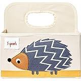 3 Sprouts Diaper Caddy - Hedgehog, Grey