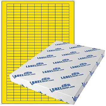 1120 Klebe Etiketten 52,5 mm x 21,2 mm 20 Bogen