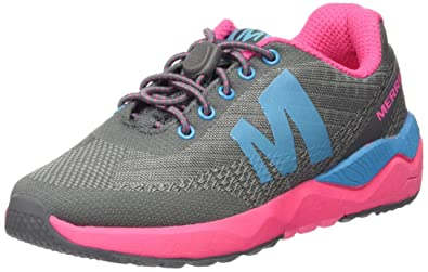 Merrell Mädchen Mi Versent Sneaker, Mehrfarbig (Grey/Pink/Turquoise), 30 EU