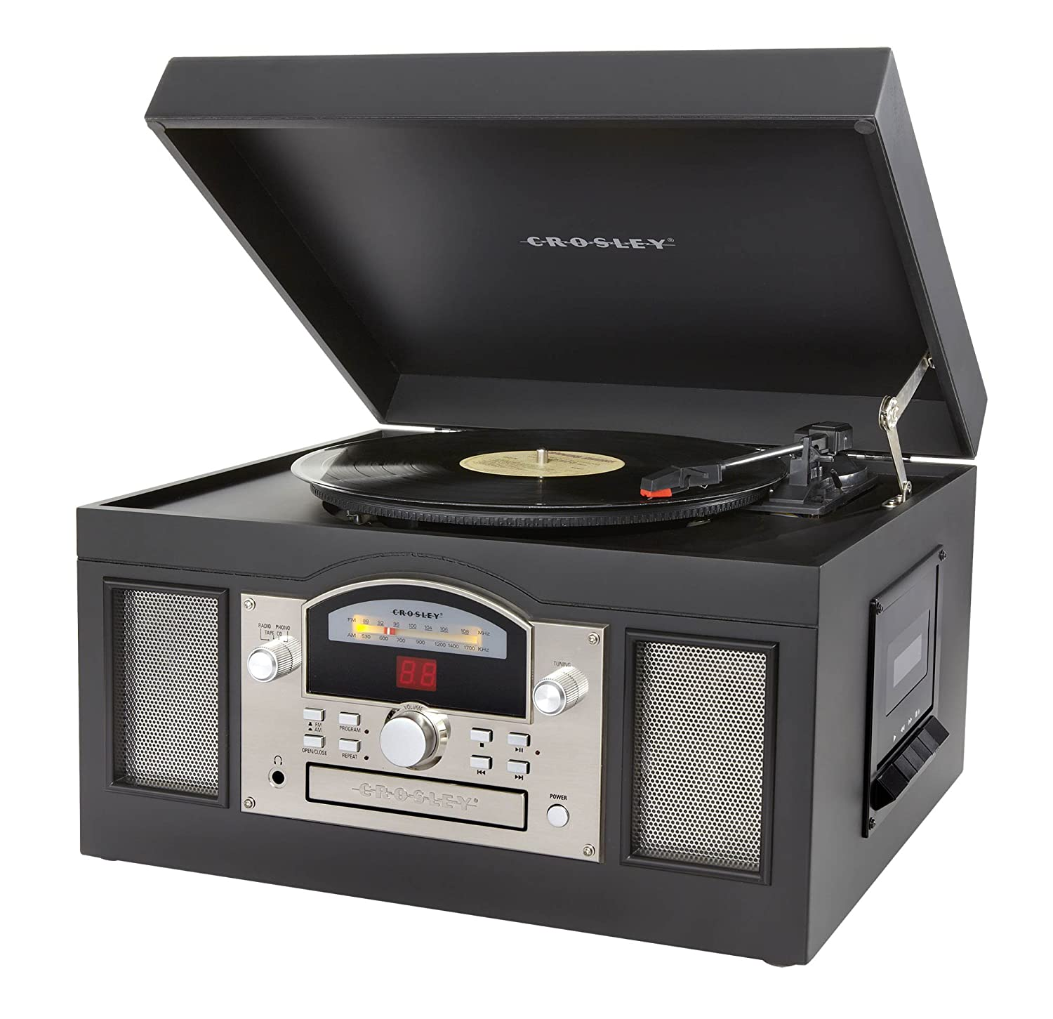 Amazon.com: Crosley CR6001A BK Archiver Turntable With Software For Ripping  U0026 Editing Audio, Black: Home Audio U0026 Theater