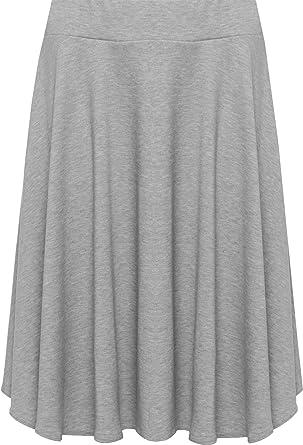 WearAll - Grande taille uni mini-jupe évasé - Jupes - Femmes ... c9cfb68667d7