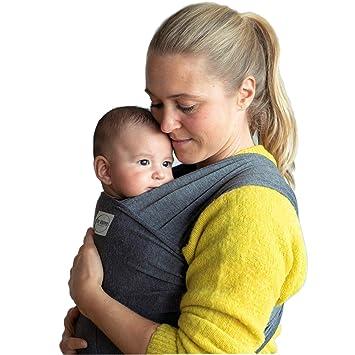 BABYTRAGETUCH Babytrage Bauchtrage Tragetuch elastisch beige
