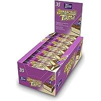 Tirma Ambrosías con Relleno Cubiertas de Chocolate con Leche - 4 Paquetes de 35 Barritas