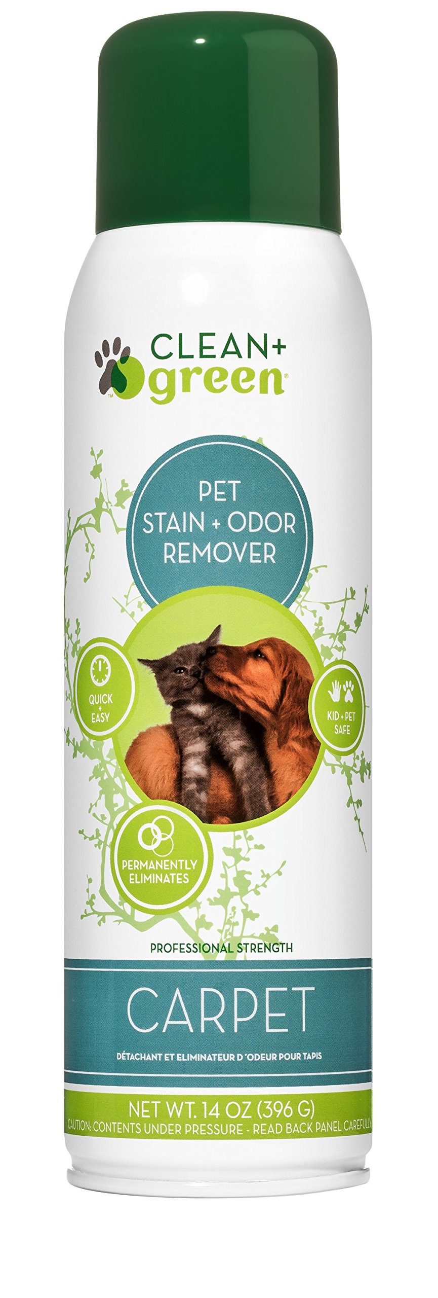 Professional Strength Carpet, Rug, Upholstery Pet Odor Eliminator and Stain Remover for Dogs and Cats, 14-Ounce