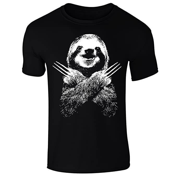 931602ef8f22f Mens Wolversloth Wolverine Sloth Funny T-Shirt: Amazon.co.uk: Clothing