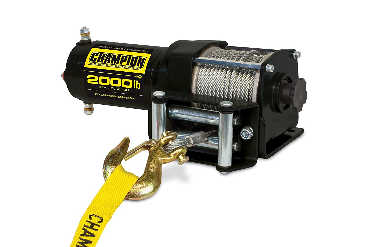 Champion Power Equipment 12003 Power Winch Kit - 2000 lb. Capacity
