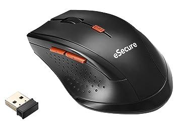 Esecure : souris usb sans fil pour ordinateurs portables pc de