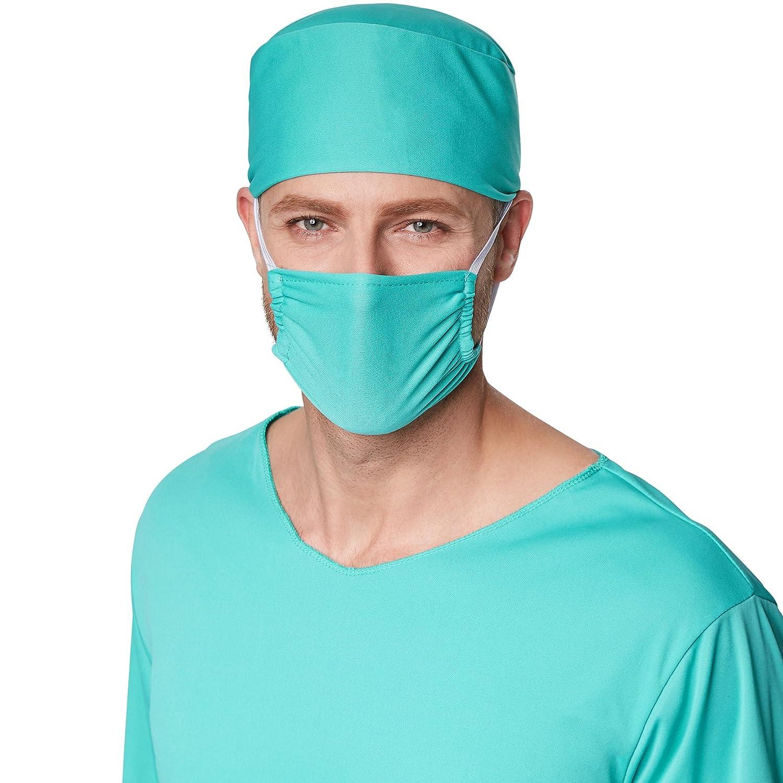 dressforfun Disfraz para hombre de cirujano | Parte superior muy estilosa de estilo médico | Incl. Mascarilla y cofia (XXL | no.