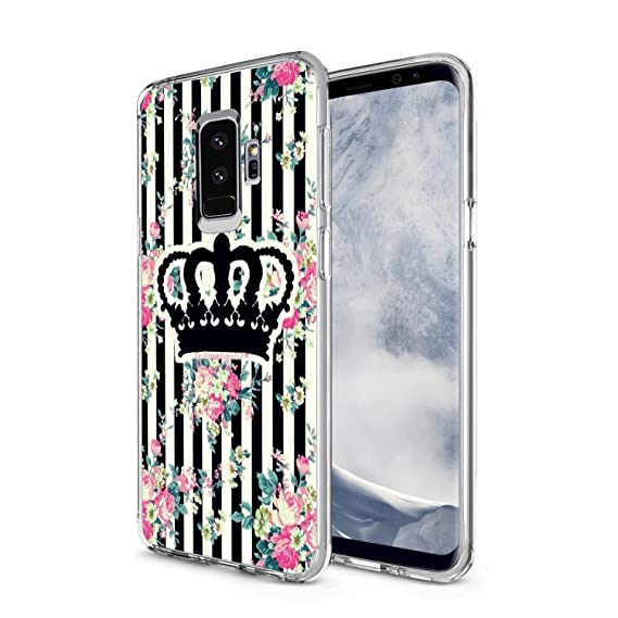 amazon com samsung galaxy s9 plus case king and queen crown pattern