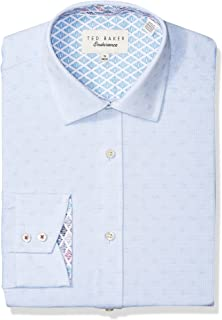 8551eed4b166b3 Ted Baker Mens Welsh Slim Fit Dress Shirt RH8M-GA67-WELSH