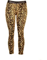 Wild Leopard Print and Faux Leather Leggings Made in USA