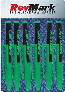 product image for RevMark Bright Series Industrial Marker - 6 Pack - Made in USA - Replaces paint marker for metal, pipe, pvc - LIGHT GREEN