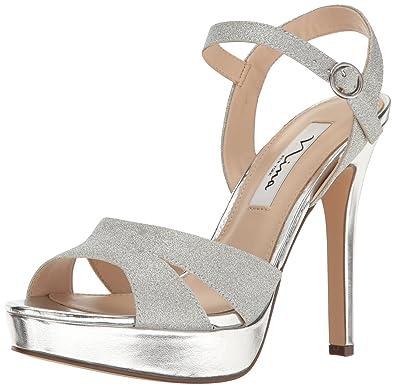 Nina Women's Shara Dress Sandal, YY-Silver, ...