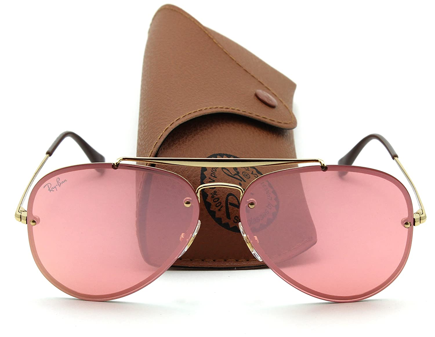 75641f969 Amazon.com: Ray-Ban RB3584N BLAZE AVIATOR Pink Mirror Sunglasses 9052E4,  61mm: Clothing