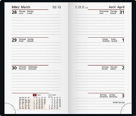 Rido/idé (701690090) Taschenkalender Taschenplaner Int. (2 Seiten ...
