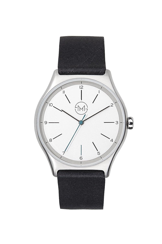 slim made one 02 - Extra flache Uhr in silber - schwarz