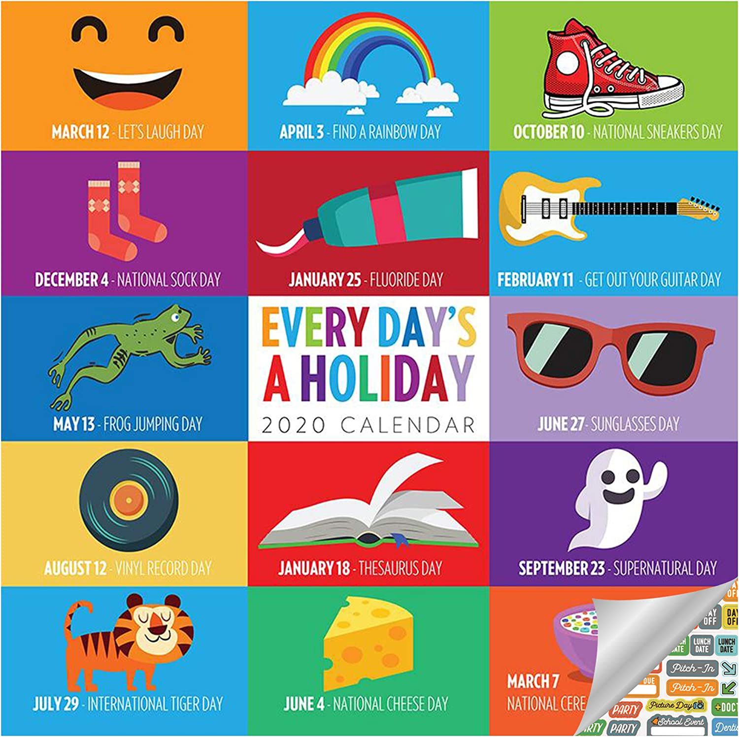 """Gifts Everyday/'s A Holiday 2020 Wall Calendar 12/"""" X 12/"""""""